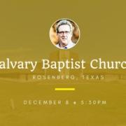 Dallas Holm at Calvary Baptist Church in Rosenberg, TX